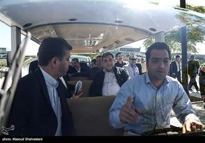 پیروز حناچی شهردار تهران در آیین بهره برداری از پروژه های مدیریت شهری در اراضی عباس آباد