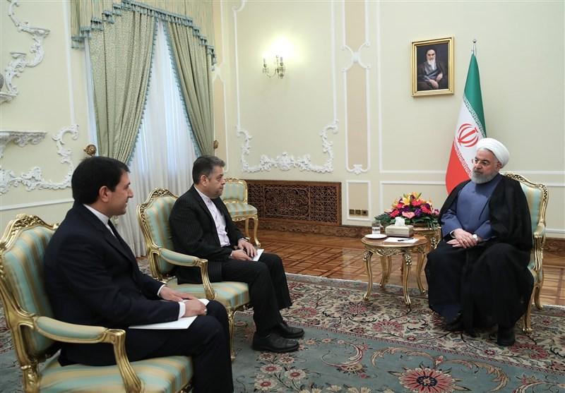 دیدار سفرای جدید ایران در ساحل عاج و ازبکستان با روحانی