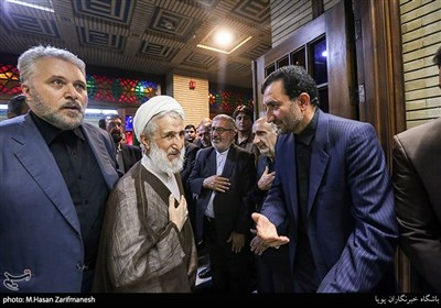 حجت الاسلام والمسلمین صدیقی در مراسم ختم همسر جمال انصاری رئیس سازمان تعزیرات