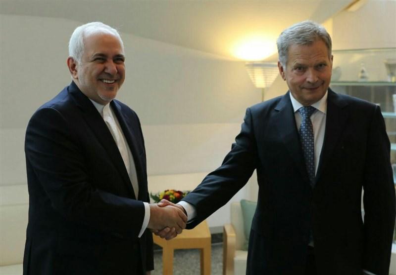 دیدار ظریف با رئیس جمهور فنلاند