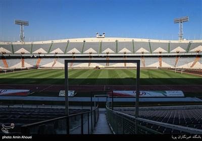 عنوان وضعیت ورزشگاه آزادی سه روز مانده به شروع لیگ برتر