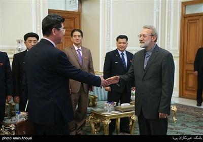 دیدار معاون رییس مجمع عالی خلق کره شمالی با علی لاریجانی