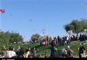 جشن بادبادکها به مناسبت عید غدیر در ایلام برگزار شد + تصاویر