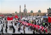مراسم پیاده روی حرم حضرت معصومه(س) تا مسجد جمکران