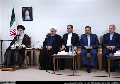 امام خامنهای در دیدار هیئت دولت: مسئولان به تولید داخلی به عنوان کلید اصلی حل مشکلات توجه کنند