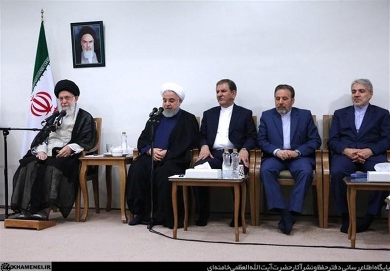 امام خامنهای در دیدار هیئت دولت: مسئولان به تولید داخلی توجه کنند,
