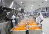 پخت روزانه 168 هزار پرس غذا به صورت روزانه برای زائران