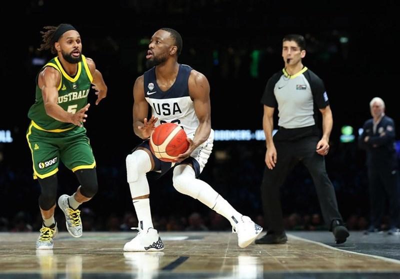دیدار دوستانه بسکتبال| استرالیا بر آمریکا غلبه کرد