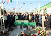 آغاز افتتاح 900 پروژه همزمان با هفته دولت در مازندران / تجدید میثاق مدیران با شهدا + تصاویر