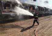 تهران| آتشسوزی 40 واگن مستهلک در شهرستان پرندک