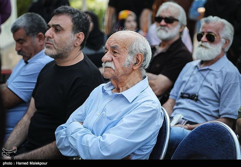 سعید پورصمیمی در مراسم تشییع پیکر مرحوم داریوش اسدزاده