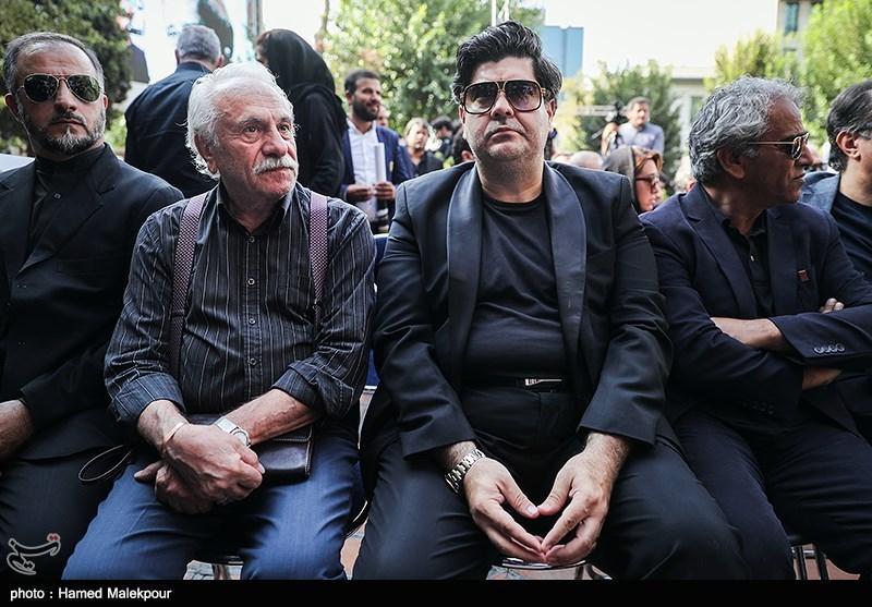 سالار عقیلی و ایرج راد در مراسم تشییع پیکر مرحوم داریوش اسدزاده