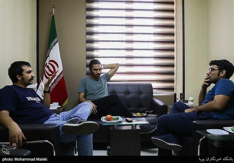 پویا سعیدی کارگردان و نویسنده تئاتر و صالح عربی زاده کارگردان تئاتر