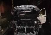 تهران| لیفان x60 در آتش سوخت + تصاویر