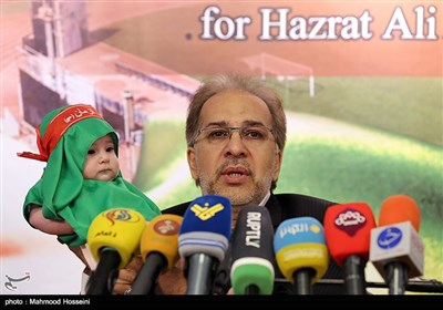 نشست خبری داود منافی پور دبیر مجمع جهانی حضرت علی اصغر علیه السلام