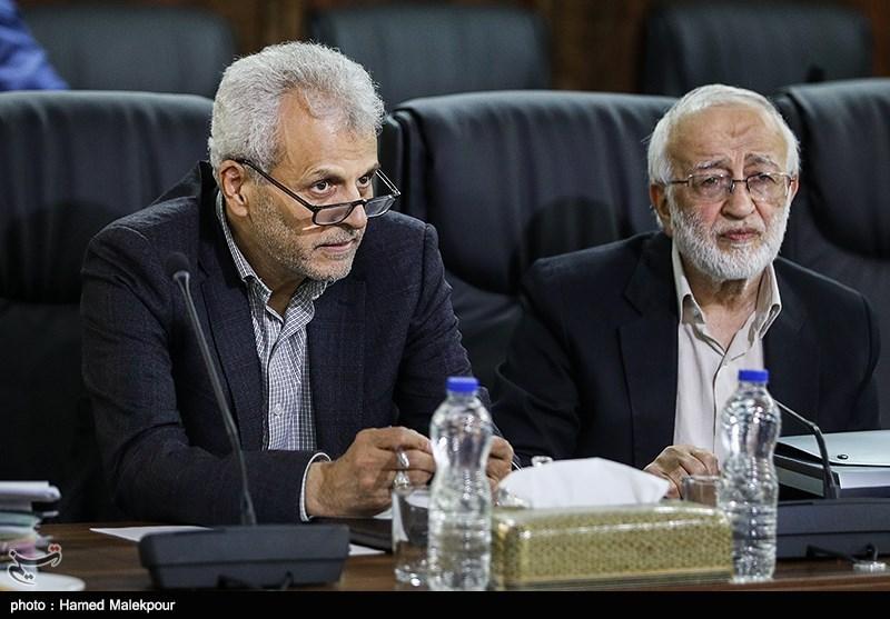 مرتضی نبوی و داوود دانشجعفری در جلسه مجمع تشخیص مصلحت نظام