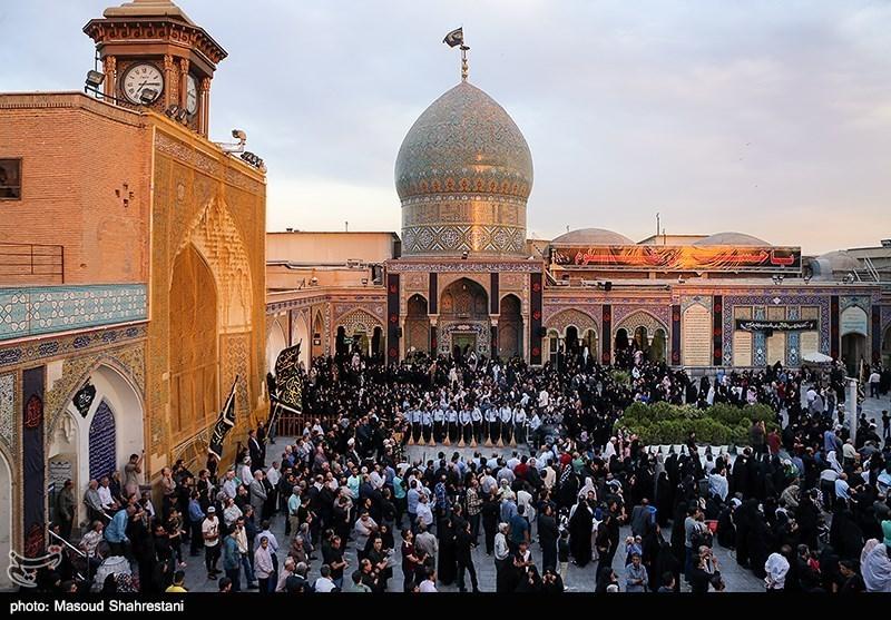 تهران| پرچم سبز حرم مطهر عبدالعظیم حسنی(ع) به اهتزاز درآمد+تصاویر