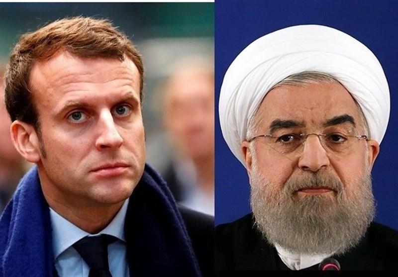 """روحانی لـ """"ماکرون"""": المفاوضات مع امریکا فی ظل الحظر، لا معنى لها"""