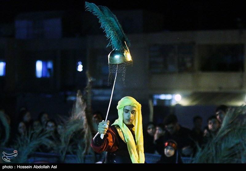 اجرای تعزیه اباعبدالله الحسین و ابوالفضل العباس در میدان ولیعصر(عج)