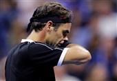 تنیس اوپن آمریکا| حذف فدرر با شکست مقابل تنیسور رده 78 جهان + عکس