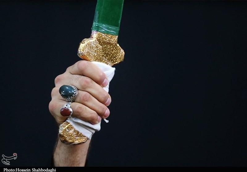 دسته عزاداری «مشق شمشیر» در قم به روایت تصویر