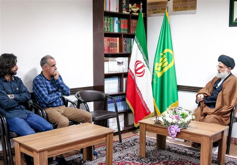 دیدار احمدزاده و پژمان نوری با امام جمعه انزلی + تصاویر