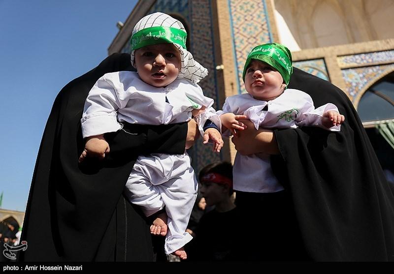 بزرگترین محفل شیرخوارگان حسینی جهان اسلام در حرم رضوی برپا شد