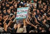 پیکر مطهر شهید شیریپز در شهرستان خمین تشییع شد