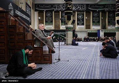 Leader Attends Mourning Service in Remembrance of Imam Hussein (AS)