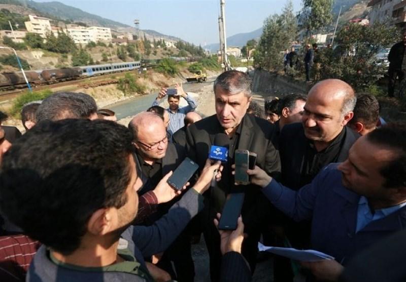 وزیر راه از پروژههای راهسازی شهرهای مرکزی مازندران بازدید کرد
