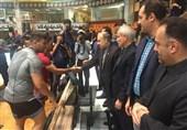 بازدید وزیر ورزش و رئیس کمیته ملی المپیک از اردوی تیمهای ملی کشتی