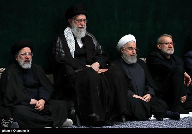 Image result for خامنه ای روحانی لاریجانی رئیسی