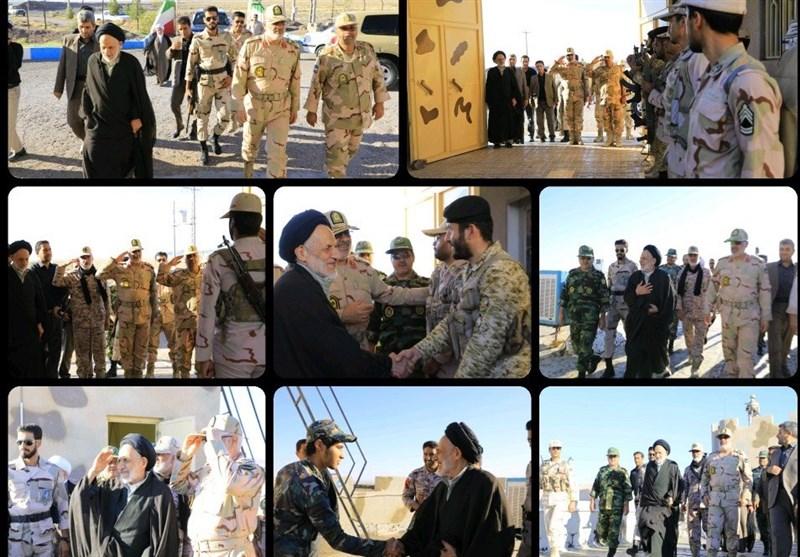 دیدار صمیمی امام جمعه بیرجند با مرزبانان پاسگاه مرزی درح