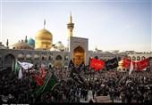 مشهدالرضا(ع) غرق عزاداری تاسوعای حسینی؛ حرم رضوی مملو از حضور زائران است