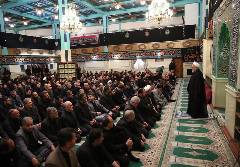 """روحانی: در هنگام مشکلات و فراز و نشیبها نام """"عاشورا"""" به ما مدد میرساند"""