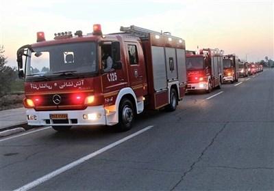آتشسوزی گسترده چند سوله در شهرک صنعتی جاجرود