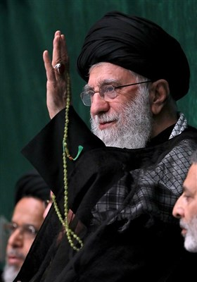 عزاداری شب تاسوعای حسینی در حسینیه امام خمینی (ره)