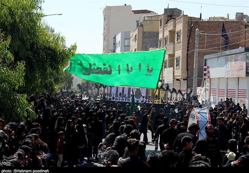 مراسم عزاداری تاسوعای حسینی زاهدانیها به روایت تصویر