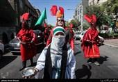 دسته های عزاداری روز تاسوعا در خیابان رودکی