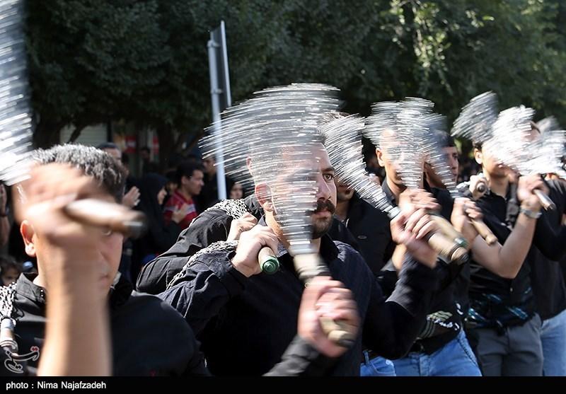 تجلی شور حسینی عزاداران ایلامی در روز تاسوعا به روایت تصویر