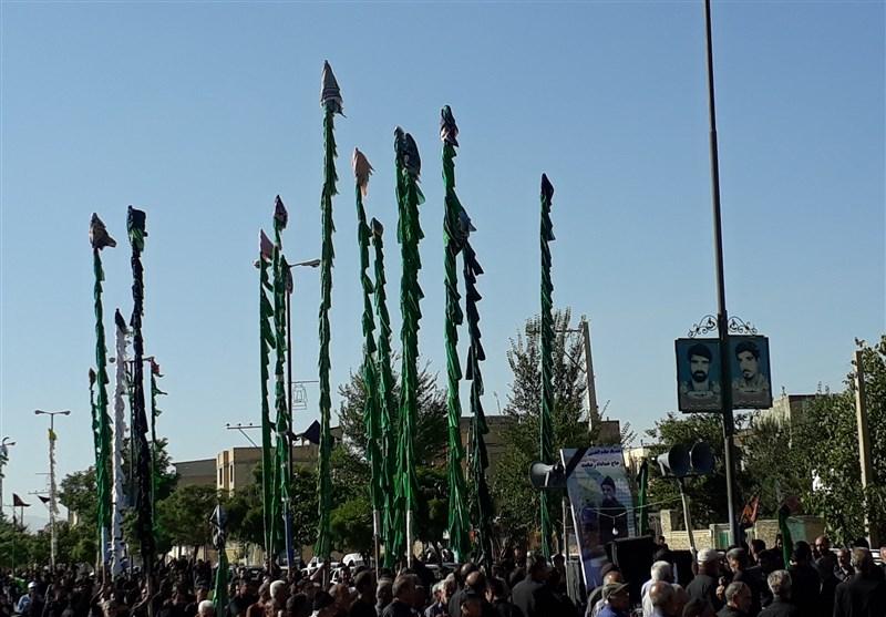 اجتماع عزاداران حسینی در روز تاسوعا در چهارمحال و بختیاری برگزار شد + عکس