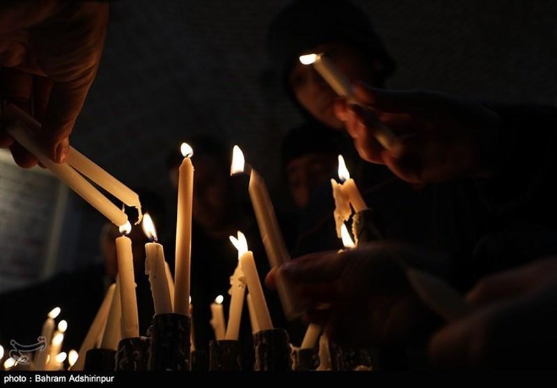آئین «شام پایلاماق» یا شمعگردانی در اردبیل به روایت تصویر