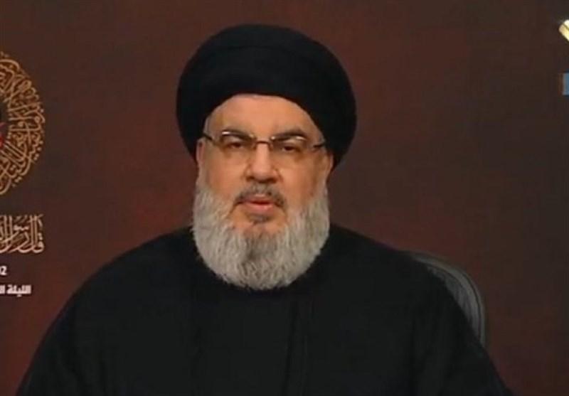 نصرالله: اذا اعتُدی على لبنان فإننا سنرد بالشکل المناسب ولا خطوط حمراء مطلقاً
