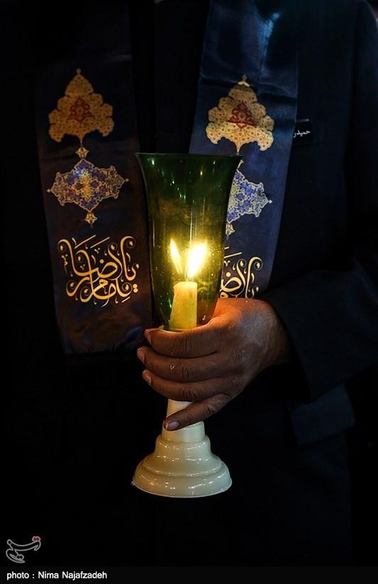 آئین خطبهخوانی شب عاشورا در حرم امام رضا(ع)