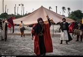 خراسان رضوی| بزرگترین آئین تعزیهخوانی کشور در «فدیشه» نیشابور برپا شد