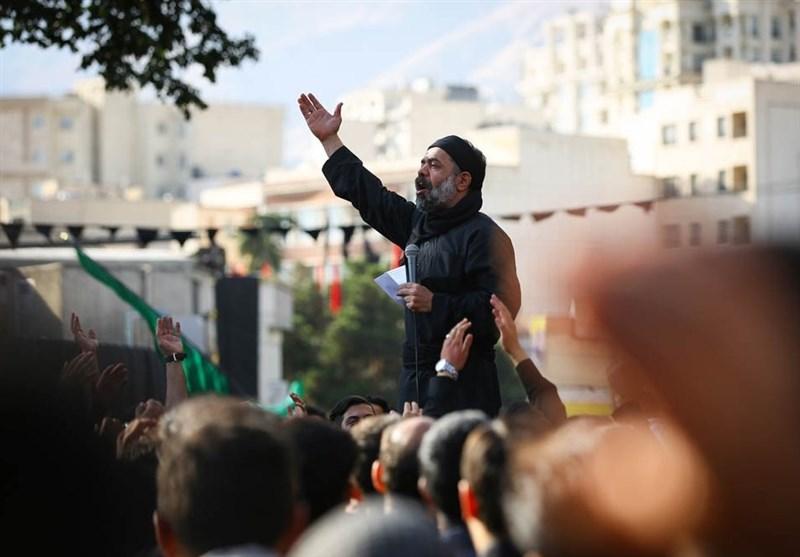 چهارپایه خوانى محمود کریمی در شب عاشورای 98