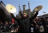 مراسم عزاداری عاشورای حسینی در حرم حضرت معصومه(س) به روایت تصویر