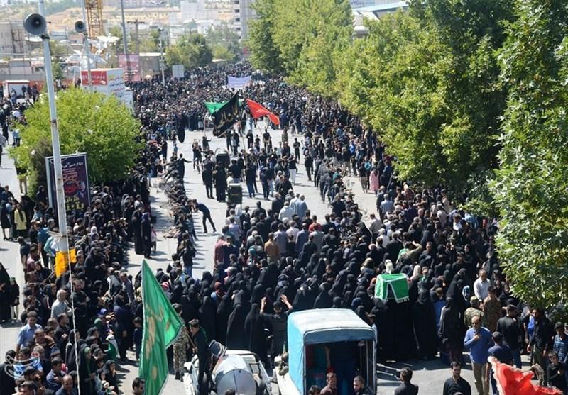 اجتماع عظیم عزاداران حسینی کهگیلویه و بویراحمد در روز عاشورا + تصاویر