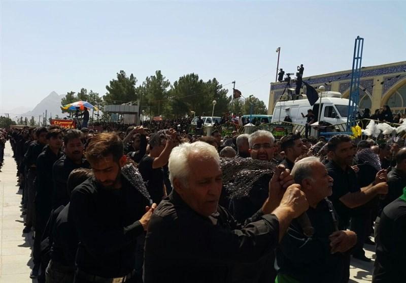 اصفهان  تجمع بزرگ عزاداران حسینی در امامزاده شاهرضا(ع) + تصاویر