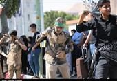 نمایش شکوه عزاداری پیروان اباعبدالله الحسین(ع) در عاشورای حسینی سنندج + تصاویر